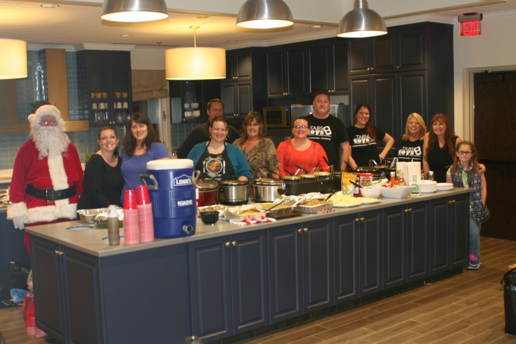 Most of our cooking crew (a few were busy helping Santa)