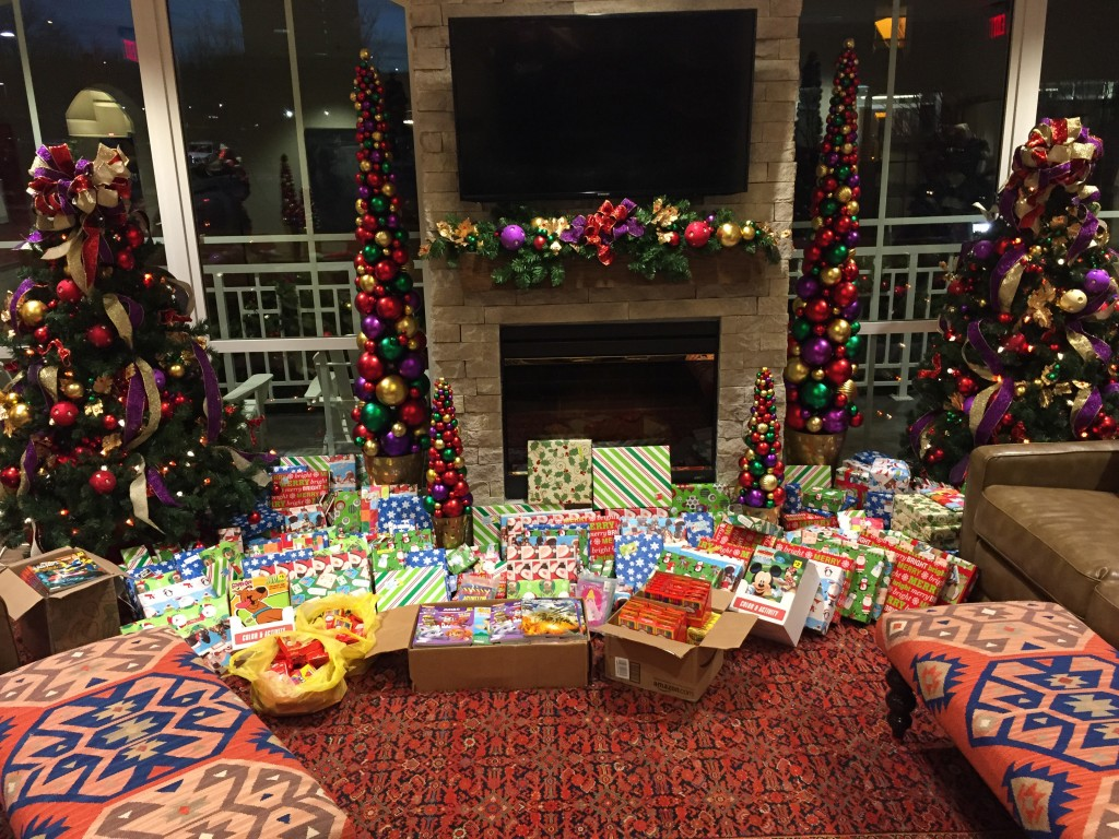 The presents we delivered for the children of Ronald McDonald House